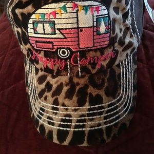 Accessories - Brown animal Print Happy Camper Hat.